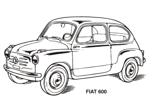 Blue Vintage Car icon png