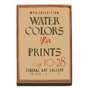 Wpa Exhibition Water Colors [and] Prints, Federal Art Gallery / Hg [monogram]. icon png