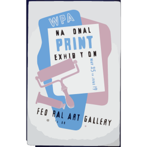 Wpa National Print Exhibition, Federal Art Gallery icon png
