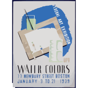 Federal Art Exhibition Wpa Water Colors. icon png