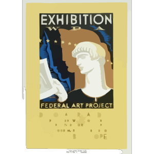 Exhibition Wpa Federal Art Project Index Of American Design / Milhous. icon png