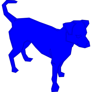 Dog Blue icon png