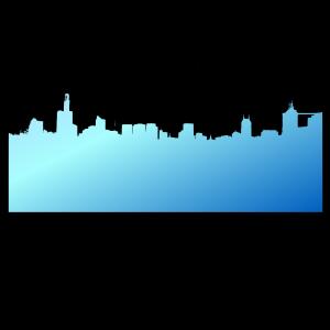 Dark Blue Skyline icon png
