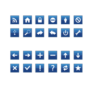 Blue Vote Sign icon png