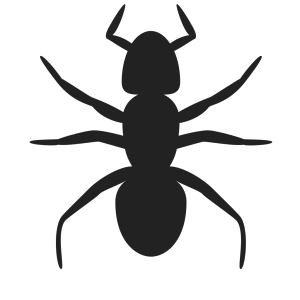 Pink And Blue Ant Silhouette icon png
