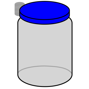 Jar With Blue Lid icon png