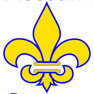 Fleur De Lis Gold With White icon png