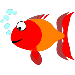 Light Blue Happy Fish icon png