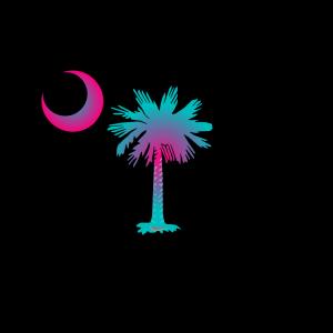 Sc Palmetto Tree - Blue icon png