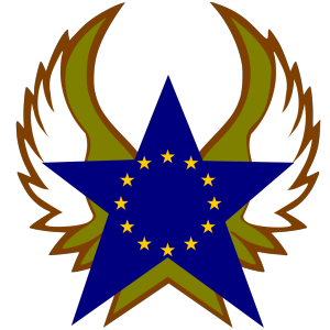 Blue Star With Gold Stars icon png