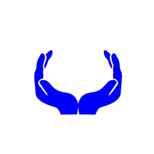 Blue Hands icon png