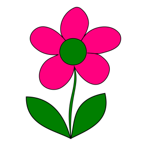 Pink Blue Flower Border icon png