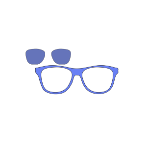 Blue Glasses Owl icon png