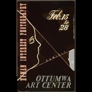 Human Interest Photography Exhibit, Ottumwa Art Center  / Designed & Processed By Iowa Art Program, W.p.a. icon png