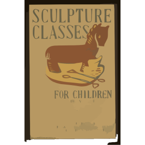 Sculpture Classes For Children Now In Session Under Direction Of Art Teaching Division, Federal Art Project, Works Progress Administration. icon png