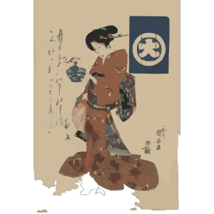 Beauty Carrying Morning Glory In A Basin. icon png