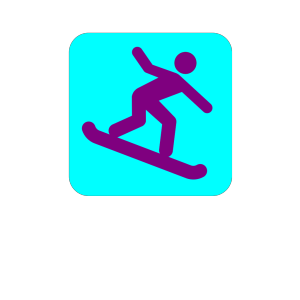 Snowboarding Icon icon png