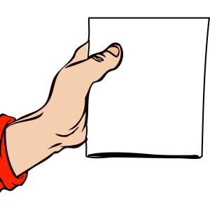 Hand Holding Brochure icon png