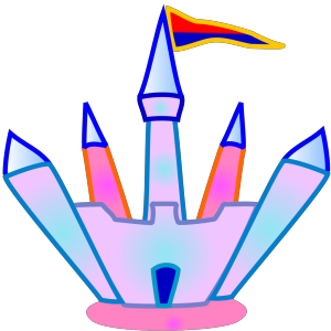 Blue And Pink Crystal Castle icon png