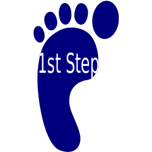 First Step icon png