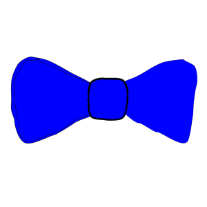 Blue Bowtie icon png