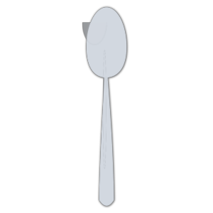 Blue Spoon Silhouette icon png