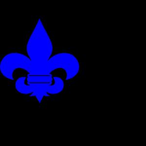 Royal Blue Fleur De Lis icon png