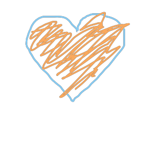 Blue And Orange Heart icon png