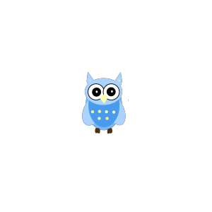 Blue Cartoony Owl icon png