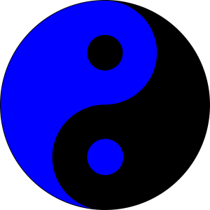 Blue Ying Yang icon png