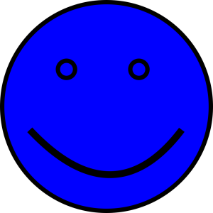 Blue Face icon png