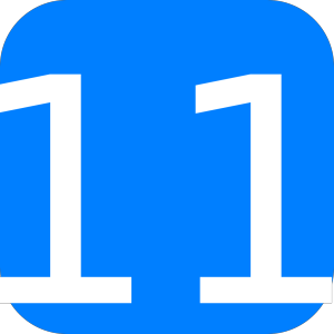 Blue, Rounded, Square With Number 11 icon png