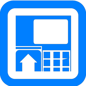 Blue Atm icon png