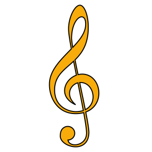 Dark Blue Treble Clef icon png
