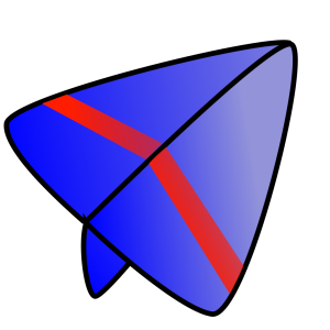 Blue And Red Glider icon png