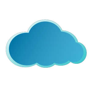 Blue Cloud icon png