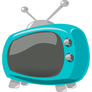 Blue Retro Television icon png