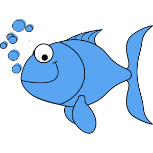 Light Blue Fish icon png