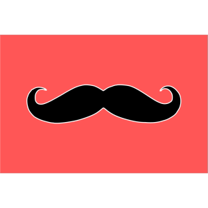 Blue Mustache icon png