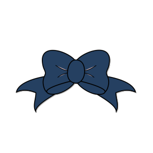 Dark Blue Bow icon png