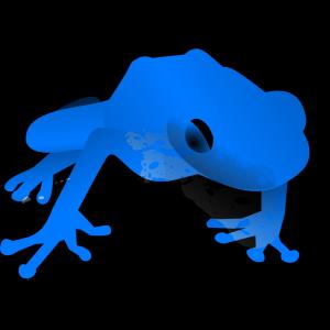Endangered Blue Poison Dart Frog icon png