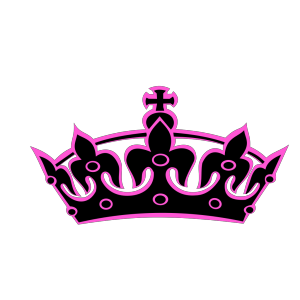Pink Tilted Tiara And Number 49 icon png