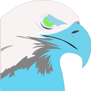 Light Blue Eagle2 icon png