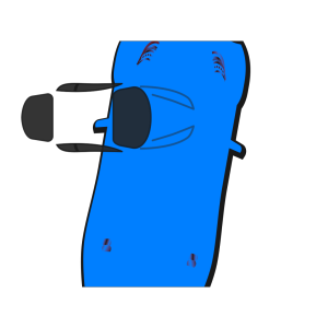 Blue Car - Top View - 80 icon png