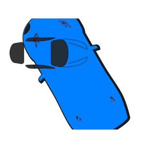 Blue Car - Top View - 120 icon png