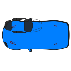 Blue Car - Top View - 180 icon png
