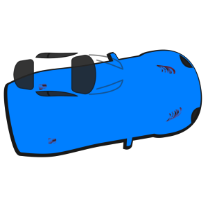 Blue Car - Top View - 10 icon png