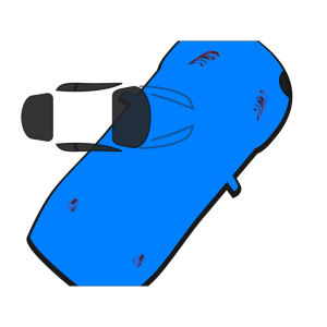Blue Car - Top View - 50 icon png