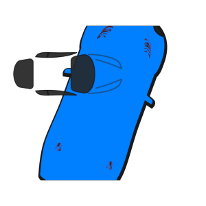 Blue Car - Top View - 70 icon png