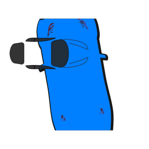 Blue Car - Top View - 100 icon png